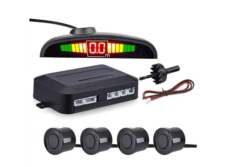 Türkçe Konuşan Araç Park Sensörü Led Ekranlı 4 Sensörlü