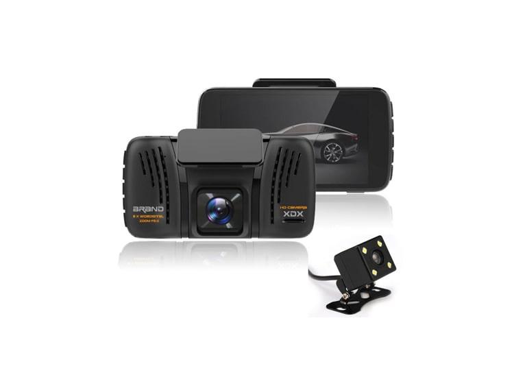 4 İnç 1080P Çift Kameralı Araç İçi Kamera Park Sensörü