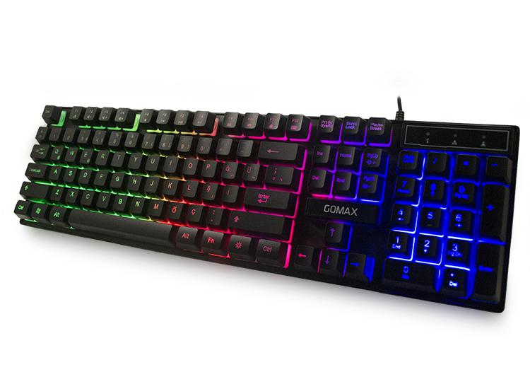 Gomax K2 RGB Led Işıklı Oyuncu Klavyesi