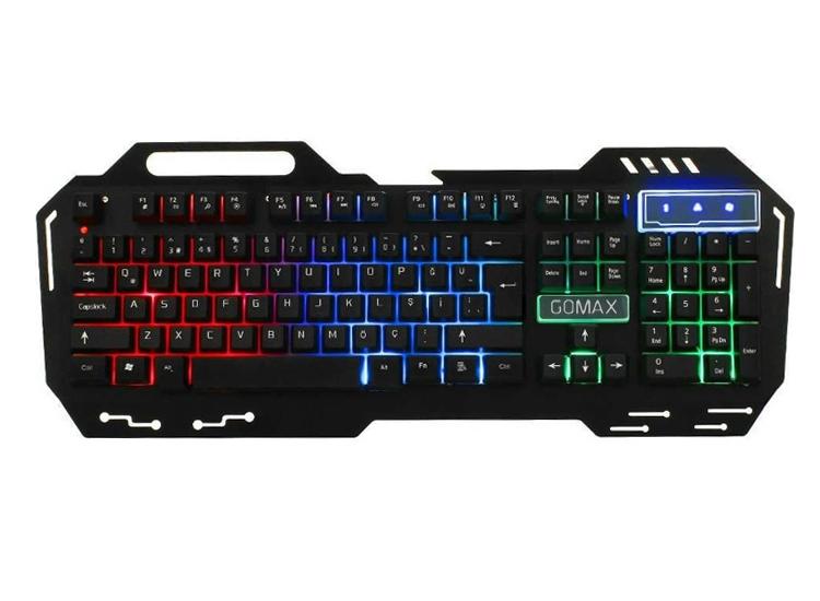 Gomax K5 Mekanik Hisli RGB Işıklı Oyuncu Klavyesi