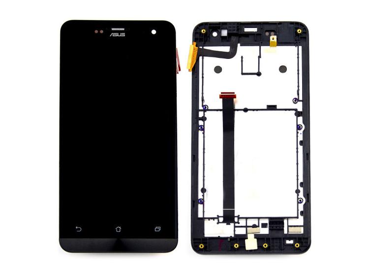 Asus Zenfone 5 A500CG A500KL LCD Ekran ve Dokunmatik-Çerçeveli Siyah