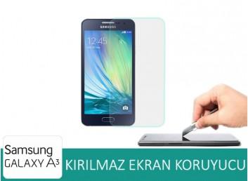 Samsung Galaxy A3 Kırılmaz Ekran Koruyucu Cam