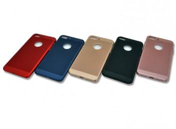 İphone 7 Plus Delikli Rubber Arka Kapak-Kılıf