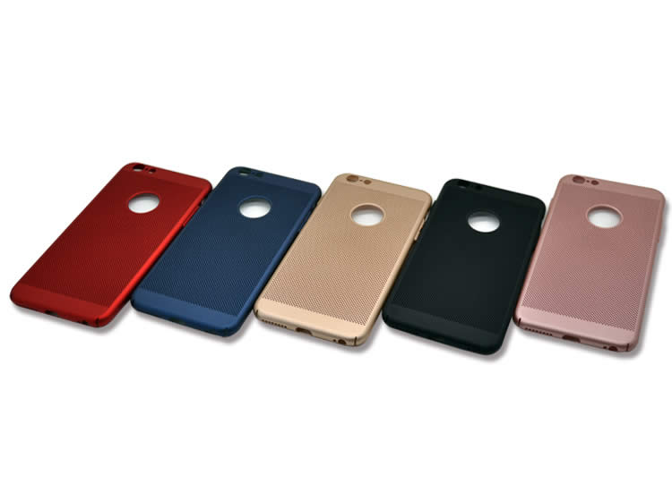 İphone 6 Plus/6S Plus Delikli Rubber Arka Kapak-Kılıf