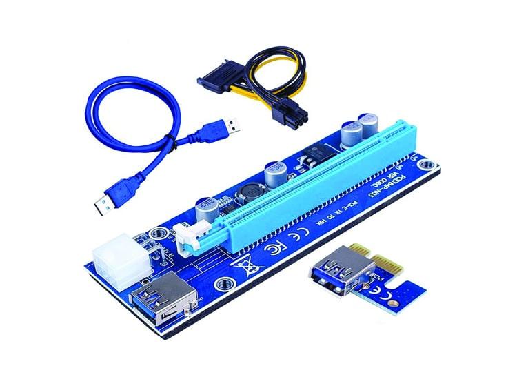PCI 1X to 16X USB 3.0 Riser Ekran Kartı Uzatma Bitcoin 006C