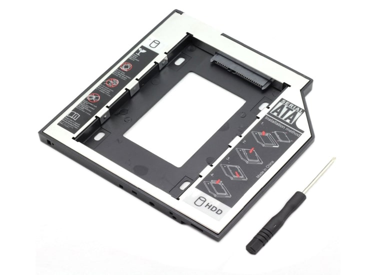 12.7 mm HDD Caddy Laptop DVD To SSD Kutu Sata
