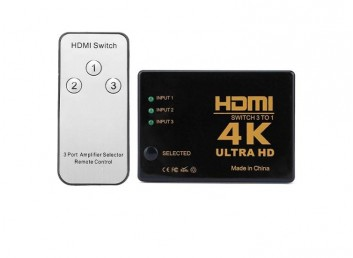 4K Ultra HD IR Alıcılı Kumandalı HDMI Çoklayıcı - 3 in 1 Switch