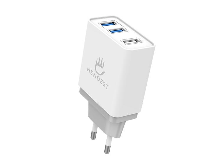 Hendest TORK-01 Üç USB'li 3.1A Akıllı Şarj Cihazı
