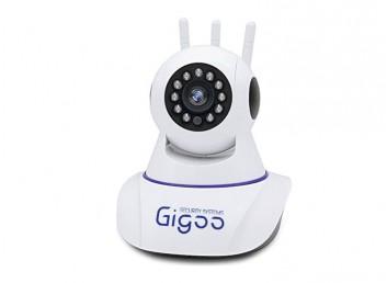 Gigoo HD 360° 3 Antenli Hareket Sensörlü IP Bebek ve Güvenlik Kamerası