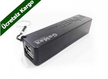 GoMax PowerBank 2600mAh Harici Batarya-Ücretsiz Kargo