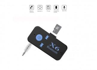 X6 Hafıza Kart Girişli Bluetooth Aux Araç Kiti