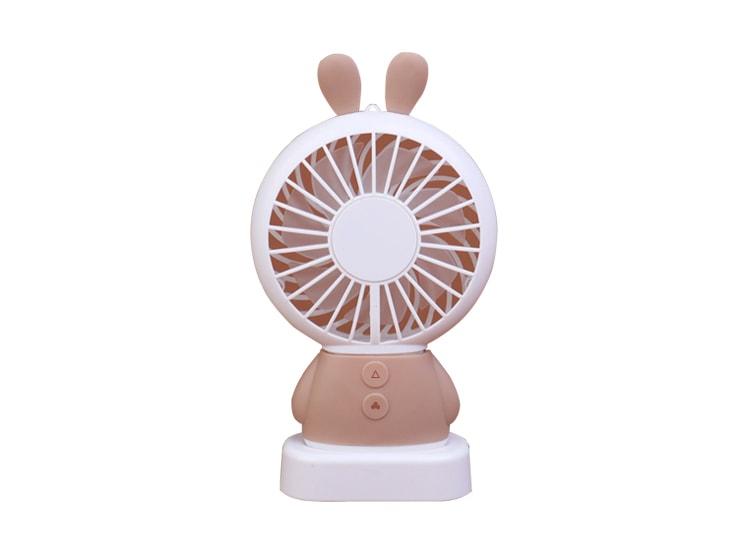 İki Kademeli Led Işıklı Tavşan Tipi Mini Soğutucu Fan