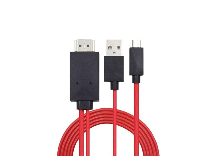 Micro USB Girişli HDMI Kablo