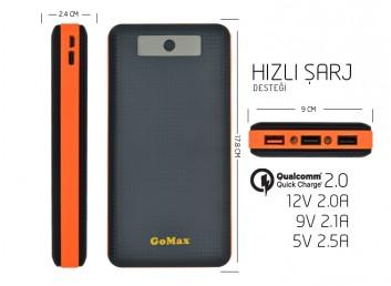 GoMax PowerBank 35000 mAh Harici Hızlı Batarya