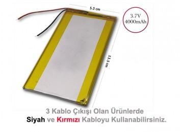 3.7V 4000 mAh 13.5x5.3 cm Tablet Bataryası