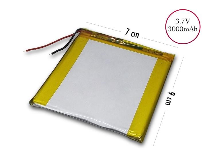 3.7V 3000 mAh 9 x 7 cm Tablet Bataryası