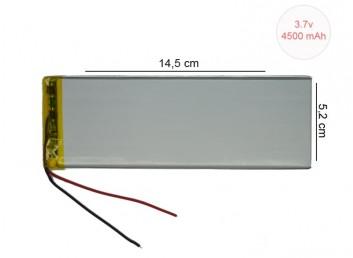 3.7V 4500 mAh 5,2 x 14,5 cm Tablet Bataryası
