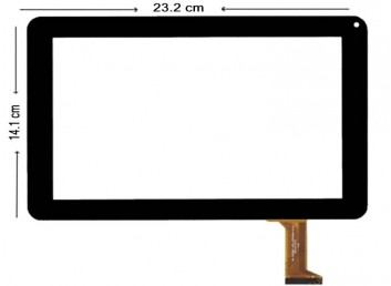 CZY6802B01-FPC, DH-0926A1-FPC080 Dokunmatik Ekran - Siyah