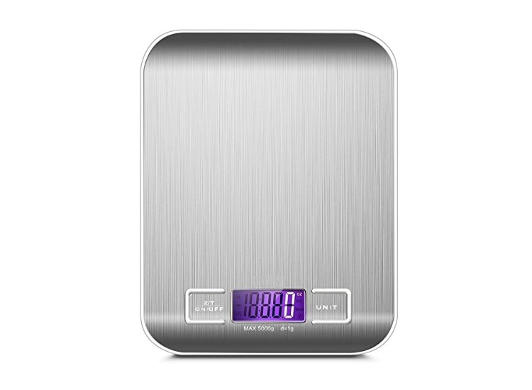 Çelik Mutfak Terazisi - Dijital Tartı 5Kg/1Gr