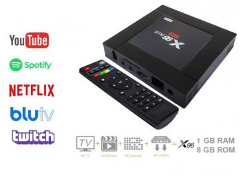 X96 Plus 4K Android TV Box 1GB Ram 8GB Rom